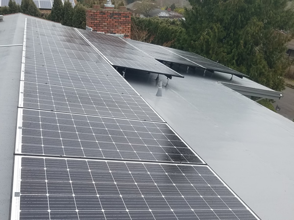 TPO Roof with Enphase Micro Inverters