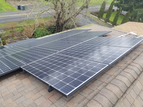 Composit Roof with String Inverter